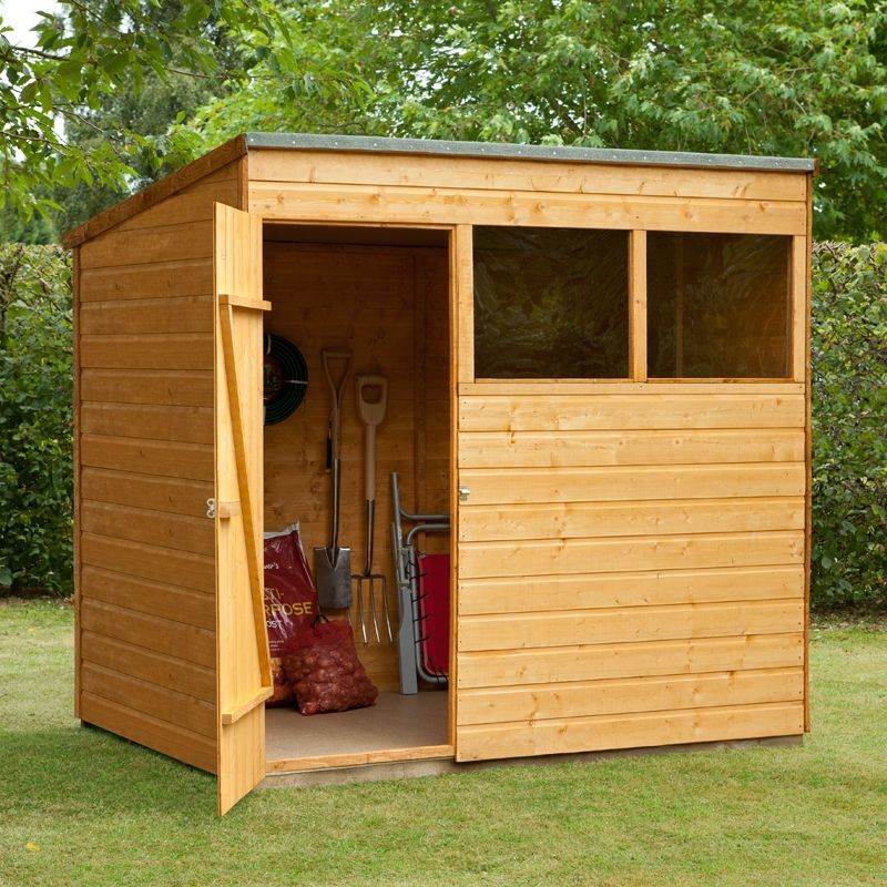 7x5 shed republic professional tongue and groove pent wooden shed - Garden Sheds 7x5