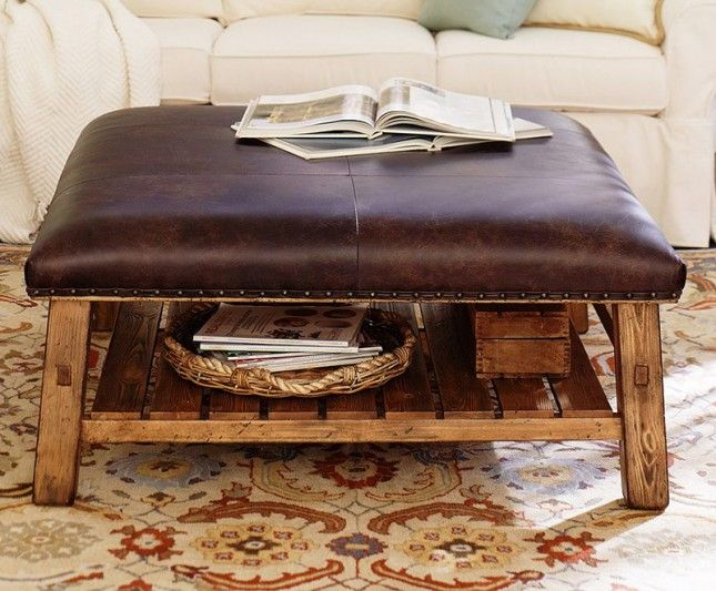 The 40 Most Beautiful Coffee Tables Ever Leather Ottoman Coffee