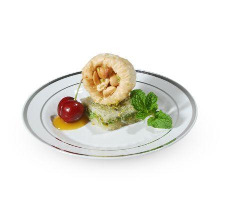 6  White / Silver Plastic Rimini Dessert Plates  sc 1 st  Pinterest & 6