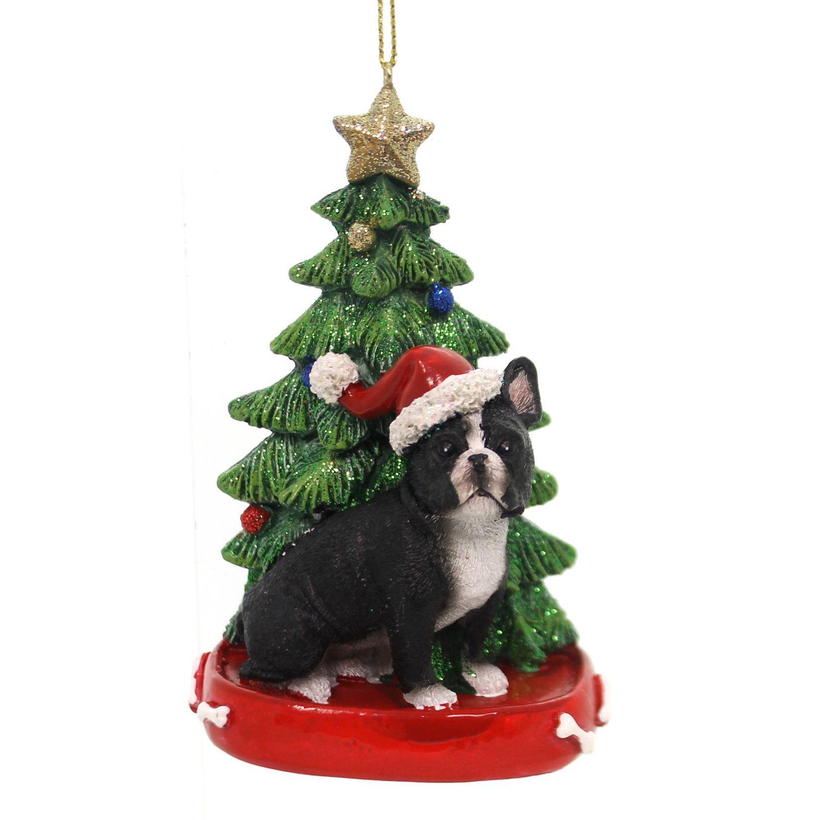Bulldog Ornament Dog Christmas Tree Ornament