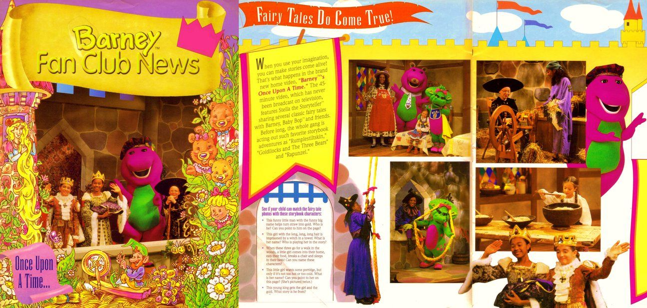 Barney Fan Club News Once Upon A Time By Bestbarneyfan On Deviantart Barney Once Upon A Time Club