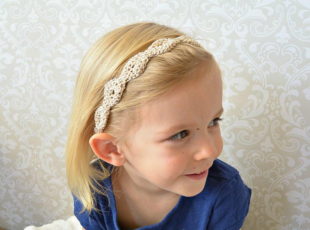 Gold Fleck Crochet Headband Pattern | Stricken