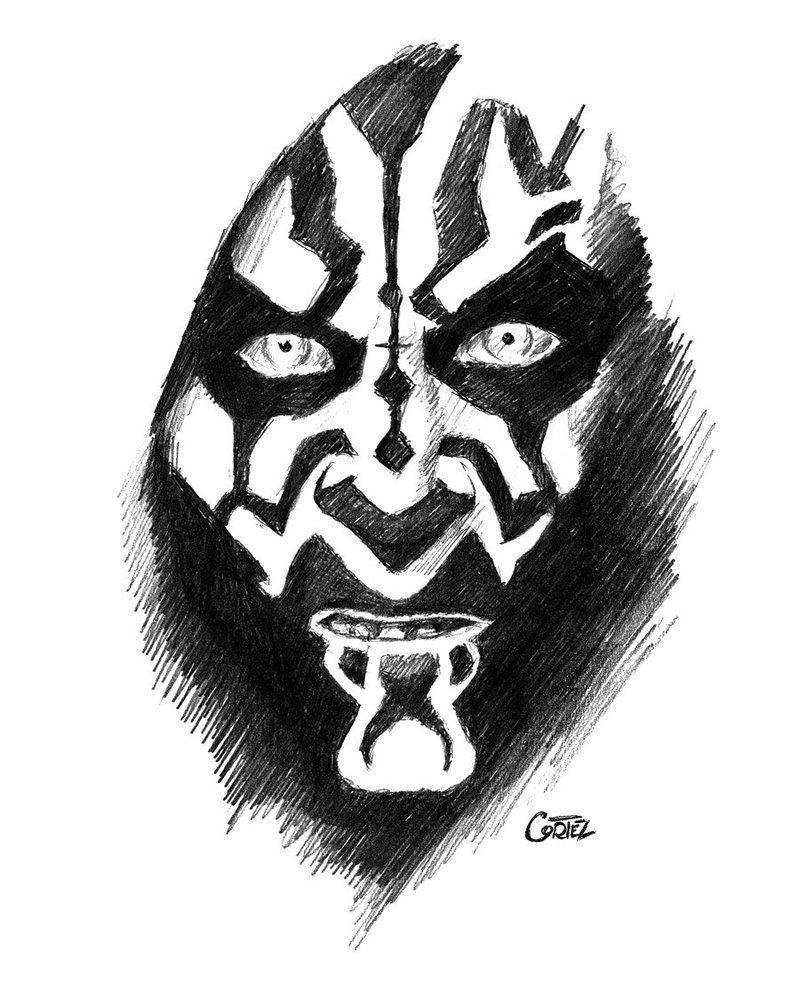 Darth Maul Face Tattoo