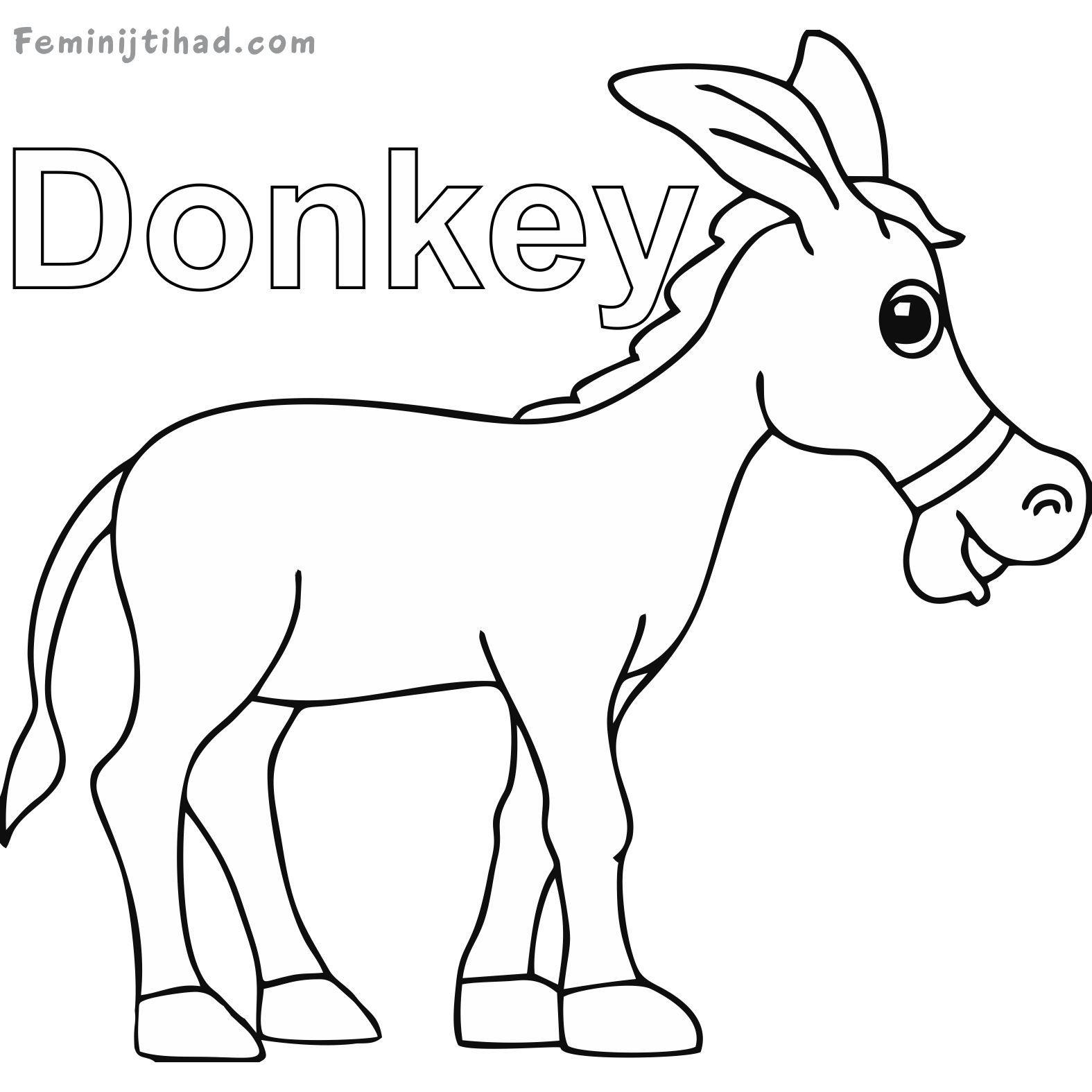 Printable Donkey Coloring Pages | Coloring pages, Coloring ...