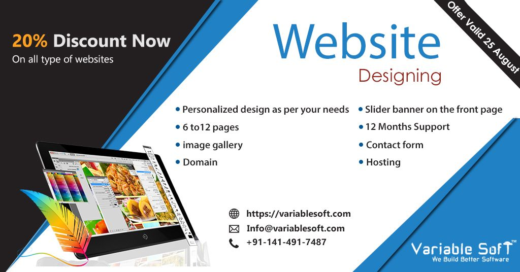 Hurry Up Discount Valid Till 25 Aug 2019 Website Development Company Website Development Website Design