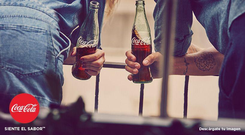 Publicidad Coca Cola Siente El Sabor Pin En Foto