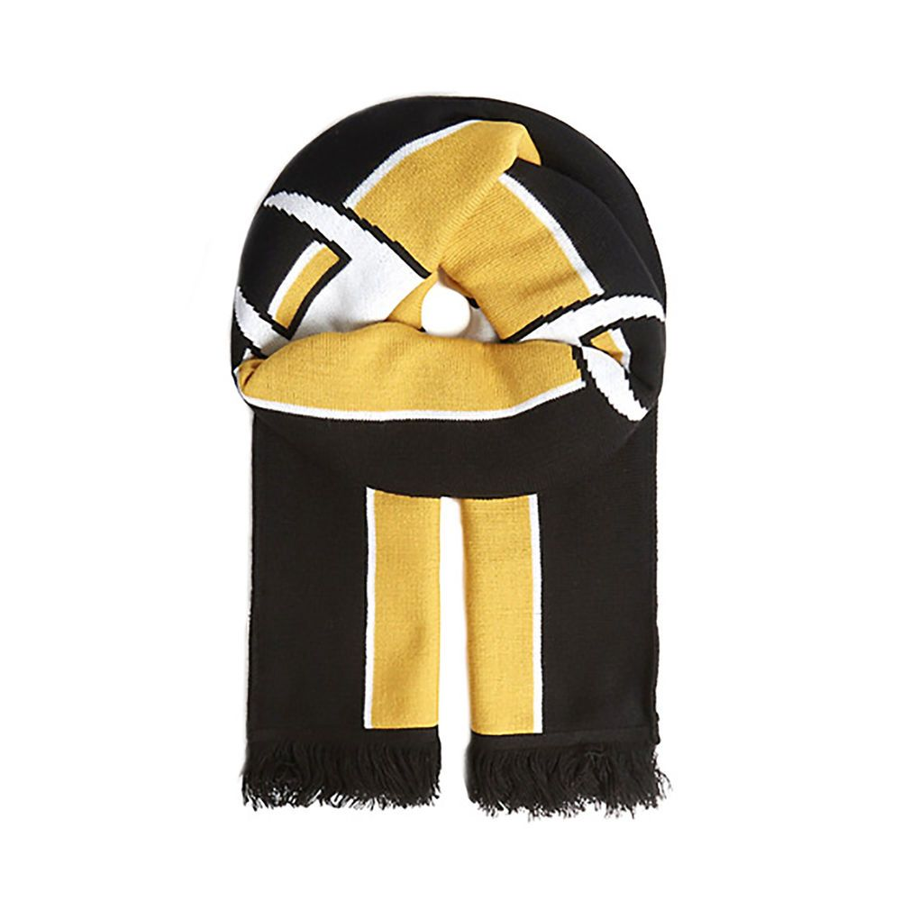 1ee89bc6a4a eBay  Sponsored Champion Scarves Knitted Scarf Black Yellow White Black