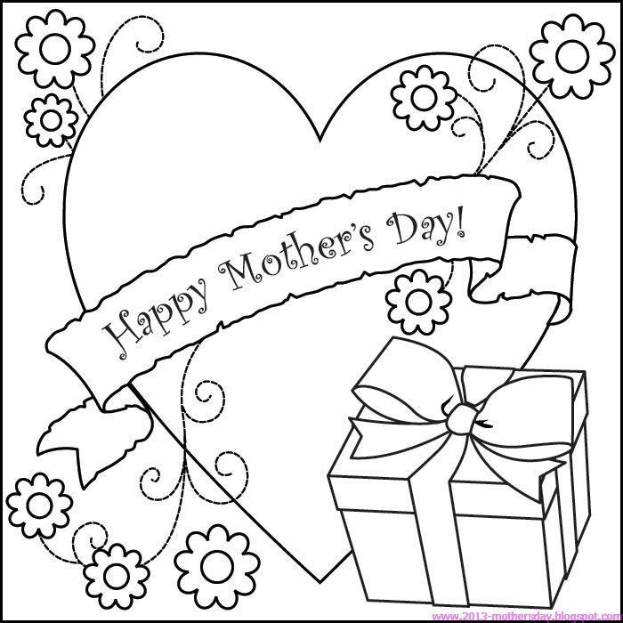 Happy Mothers day Coloring Pages for Kids  Happy Mothers day