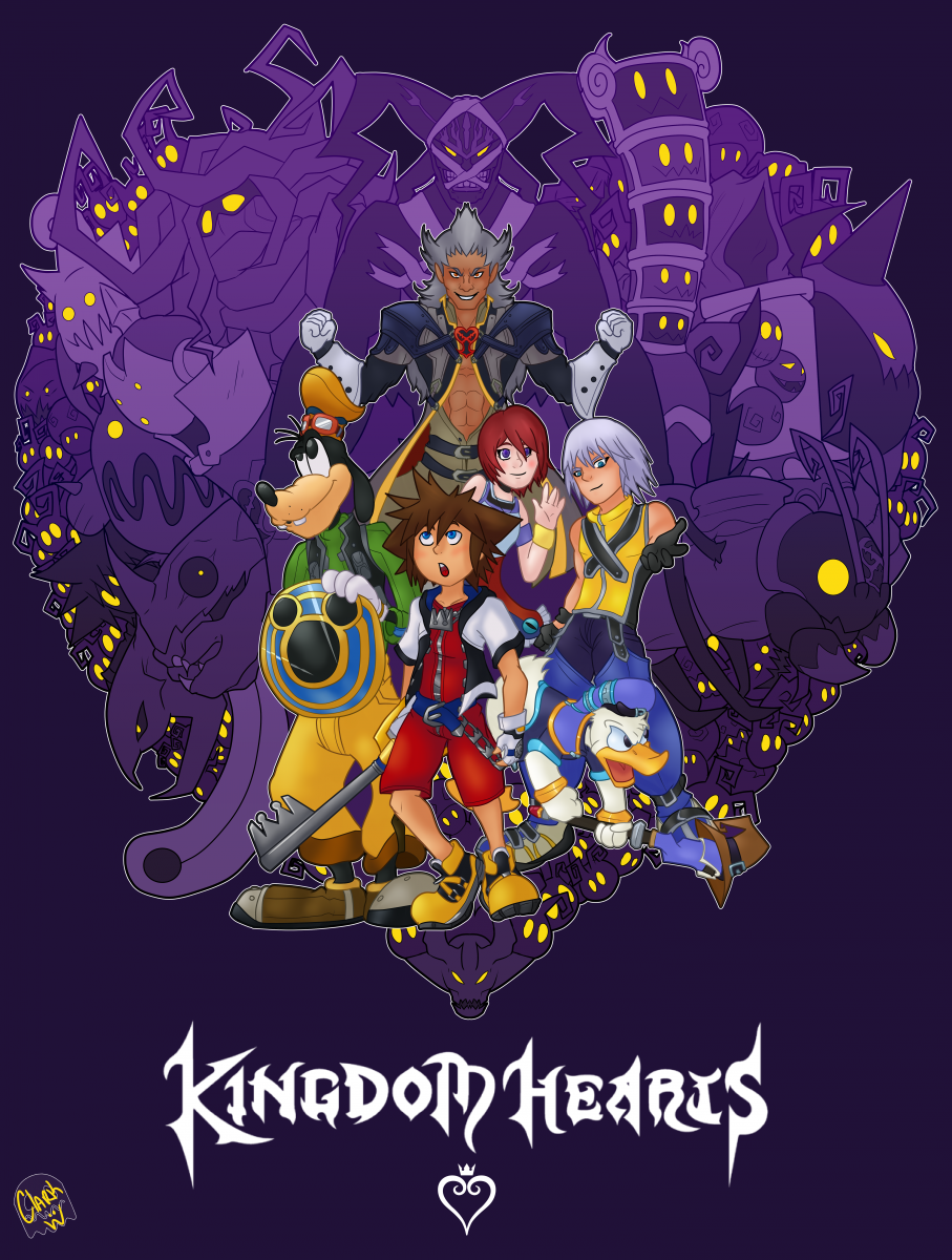 Throwback To This Awesome Poster Design By Kh13 User Clark Designer Love The Style And How They Included Kingdom Hearts Fanart Kingdom Hearts 1 Kingdom Hearts