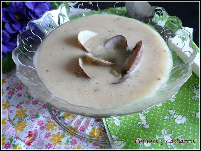 Chismes y Cacharros: Crema de Alubias blancas con Almejas