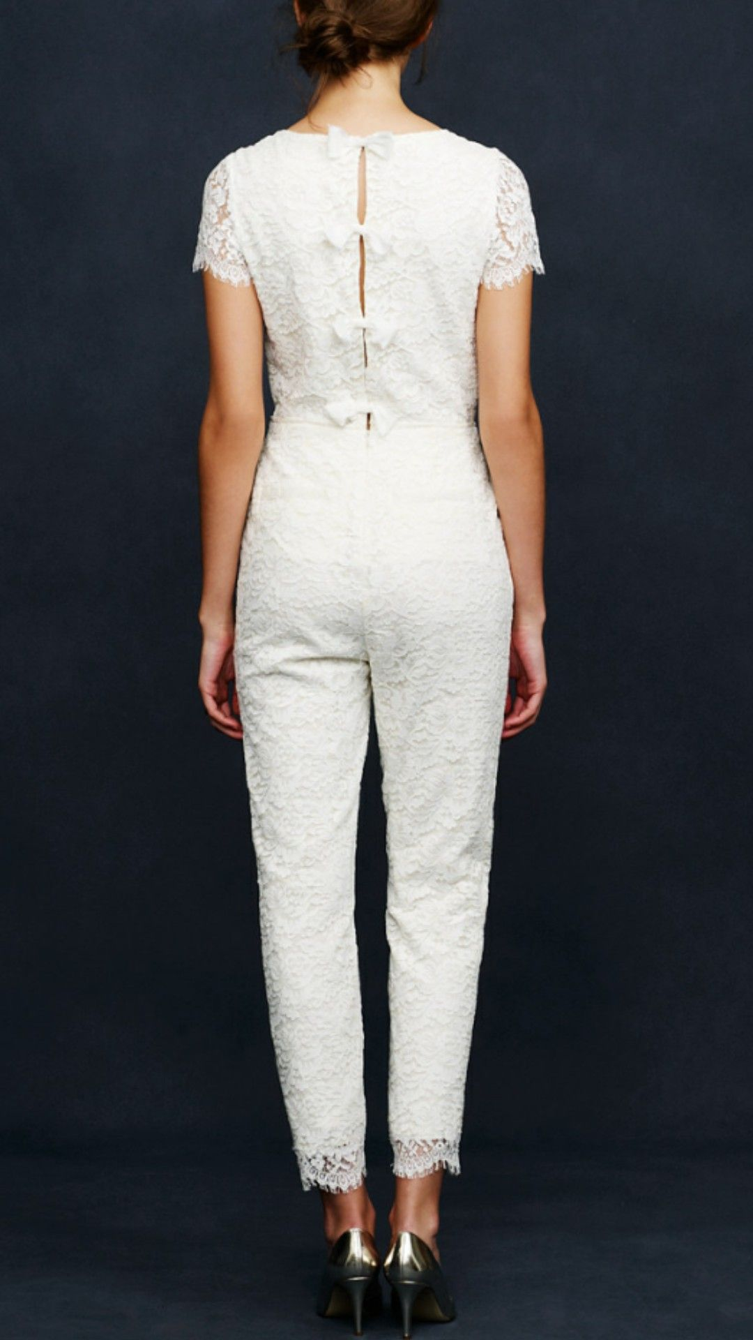 J Crew Eyelash Lace Jumpsuit Used Wedding Dress On 42 Off