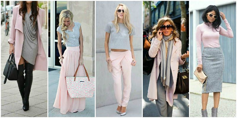 10 Perfect Clothing Colour Combinations For Women Color Combinations For Clothes Gray Outfits Women Colour Combinations Fashion
