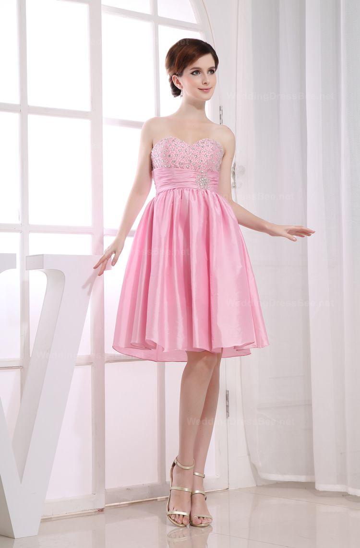 Natural waist sweetheart romantic short dress for girls | Cute ...