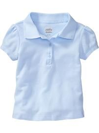 Old navy pique uniform polos for 3t 5t girls long or for Old navy school shirts