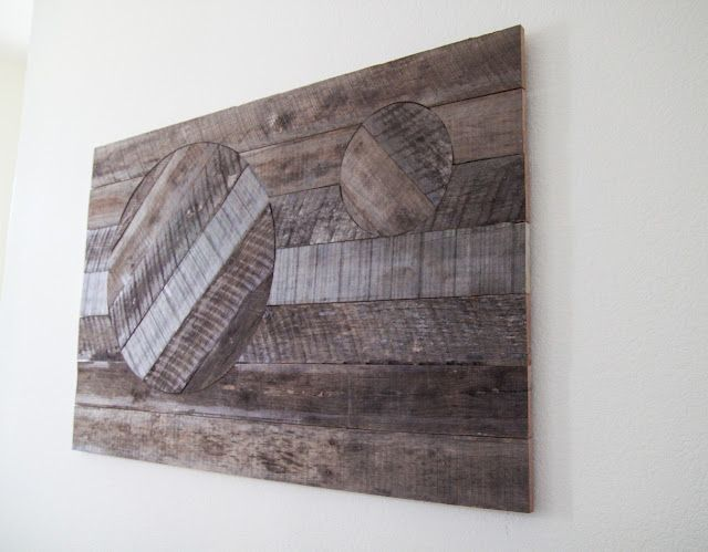 Diy Reclaimed Wood Wall Art With A Faux Inlay Design