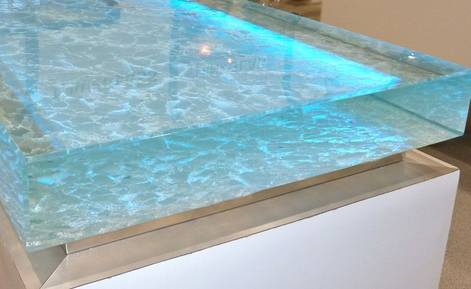 This Unique Glass Countertop From Thinkglass Was Displayed