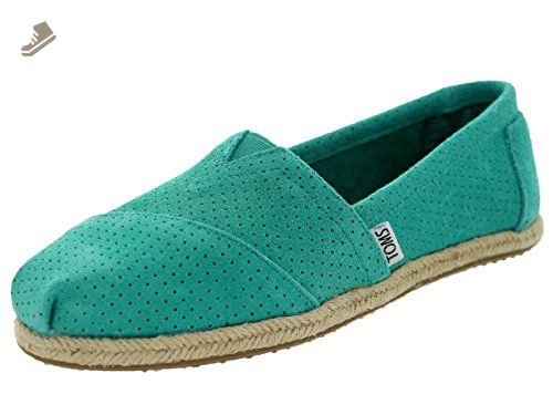 9bfa7356b89 Toms Women s Classics Perf Suede Spectra Green Casual Shoe 5.5 Women US -  Toms flats for