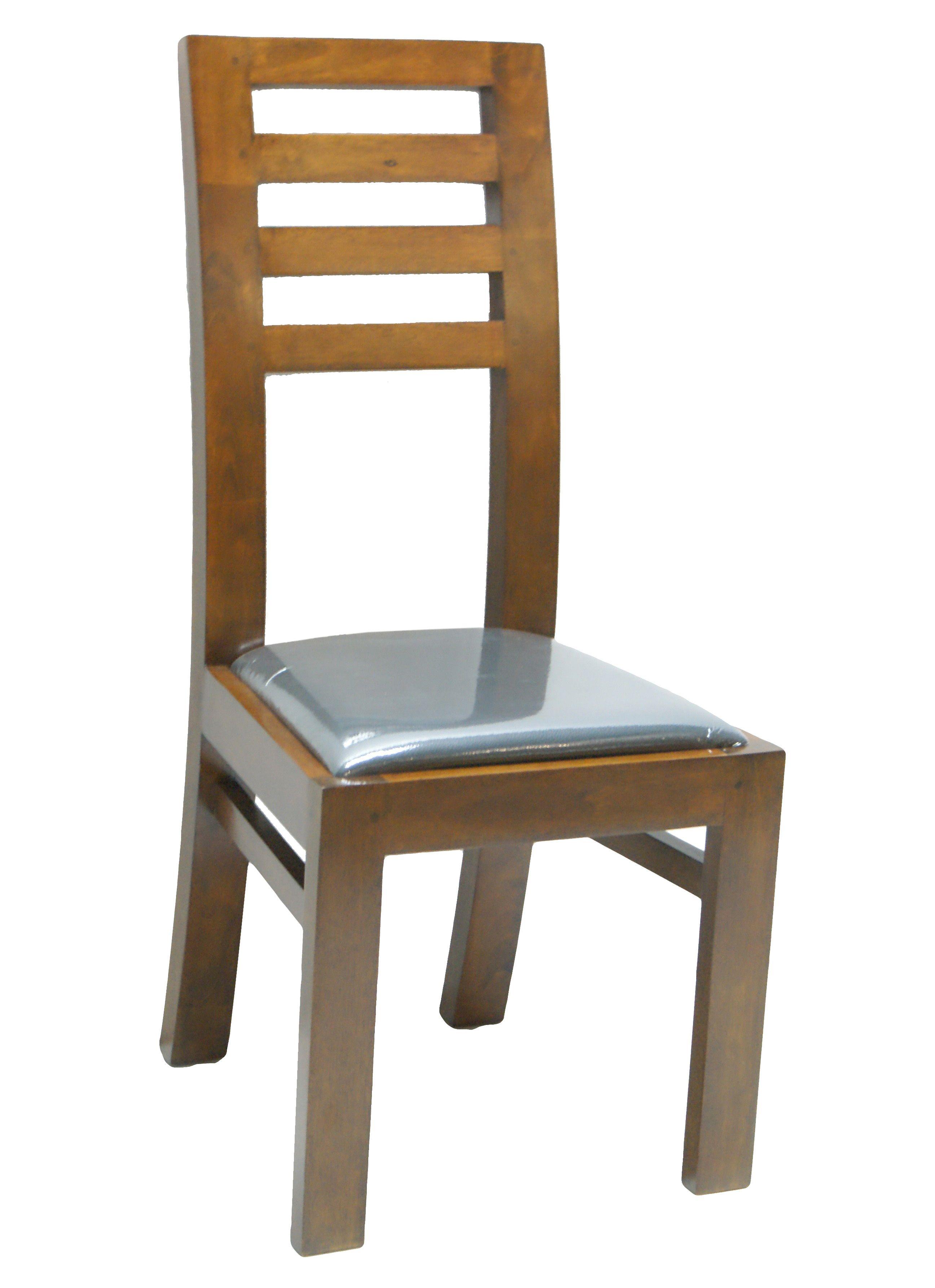 Chaise Hévéa Assise Mousse 45x49x100cm OLGA En 2020