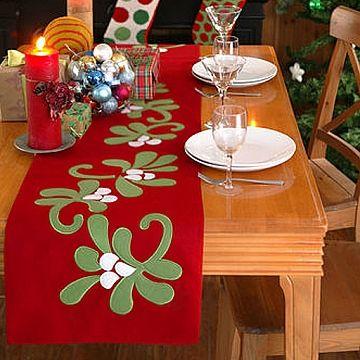 Christmas Table Runner Felt Mistletoe Runner by Kate Spain