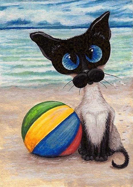Art: Beach Ball Buddy by Artist AmyLyn Bihrle