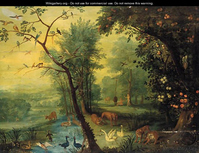 The Real Garden Of Eden Adam And Eve In The Garden Of Eden Jan The Elder Brueghel God