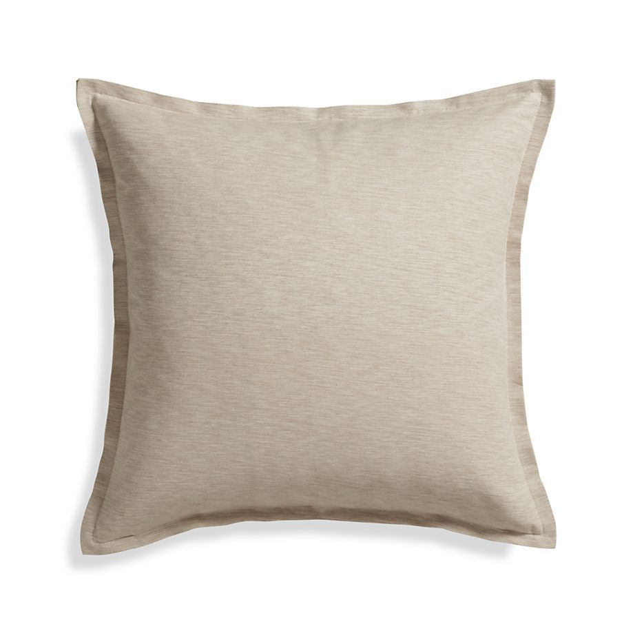 Linden Natural 23 Pillow With Feather Down Insert Reviews Crate And Barrel White Throw Pillows Pillows Natural Pillow Covers