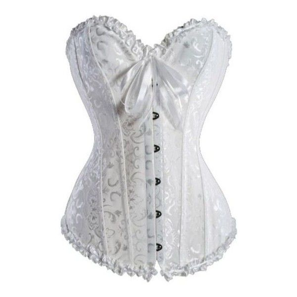 88f1c77f06 Bridal White Sweetheart Corset ❤ liked on Polyvore featuring intimates
