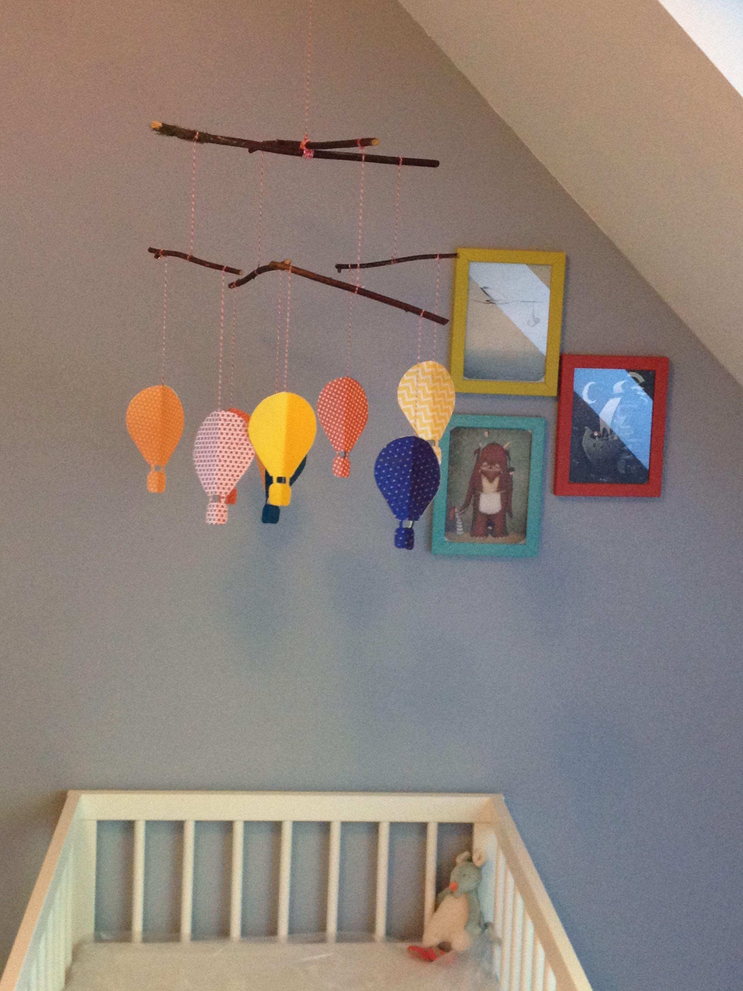 Décoration Chambre Bébé Fait Soi Même mobile montgolfière fait maison | chambre bébé, fait maison