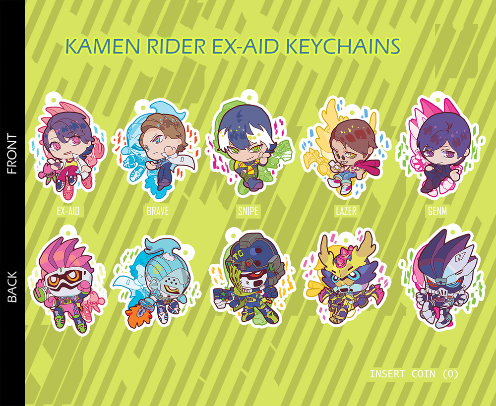 Kamen Rider Ex Aid Double Sided Keychains In 2020 Kamen Rider Ex Aid Kamen Rider Rider