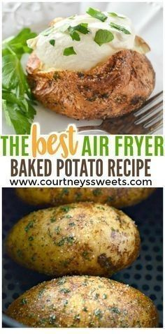 Air Fryer Baked Potato Recipe - Baked Garlic Parsley Potatoes | Easy Air-fryer Recipes