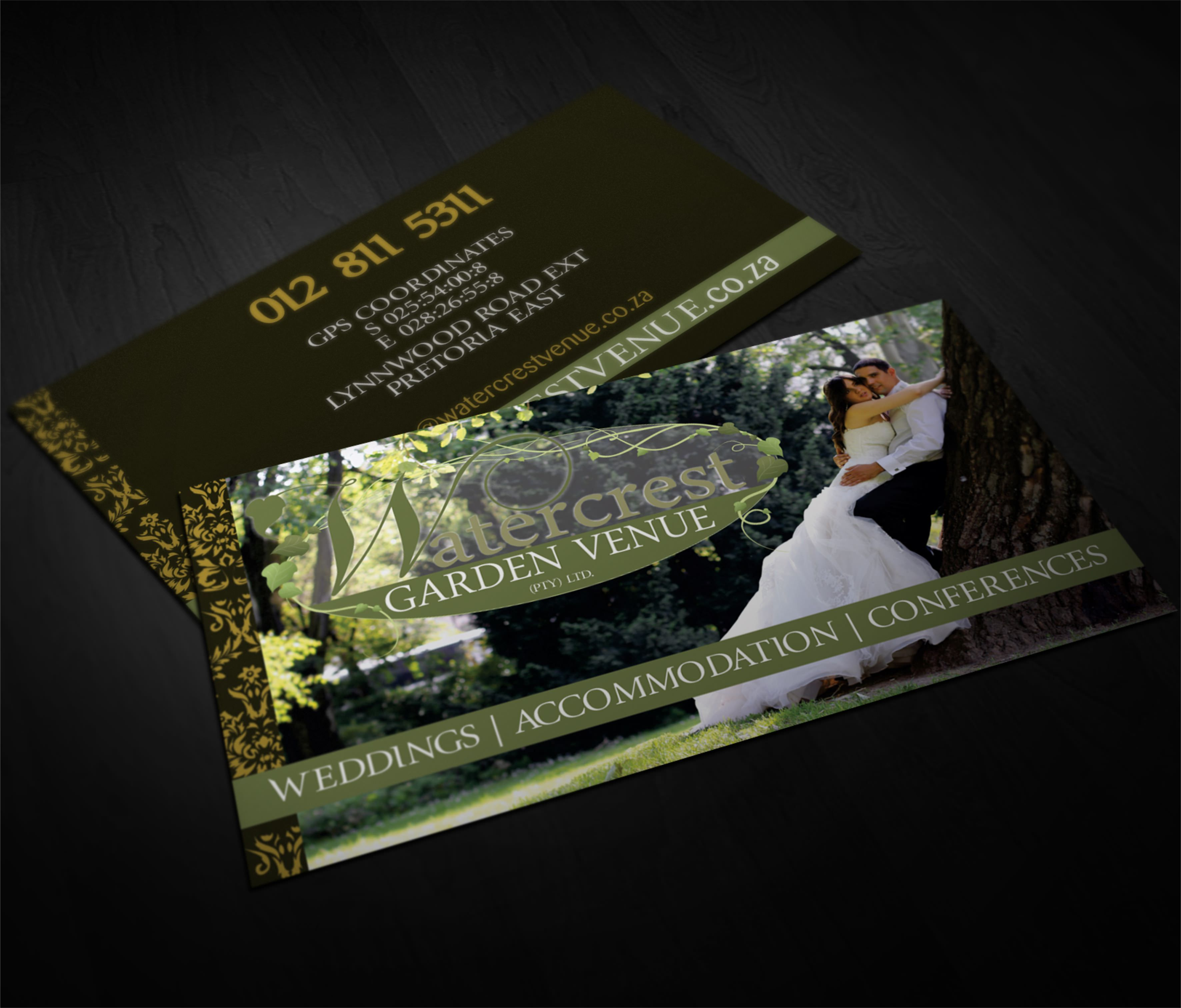 Business Card Design For Watercrest Programmes Used Coreldraw And
