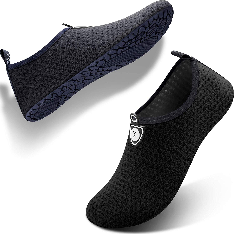 5a2d29086a76 SIMARI Anti Slip Water Shoes for Women Men Summer Outdoor Beach Swim Surf  Pool SWS001 Circular blackRainbow 3-4