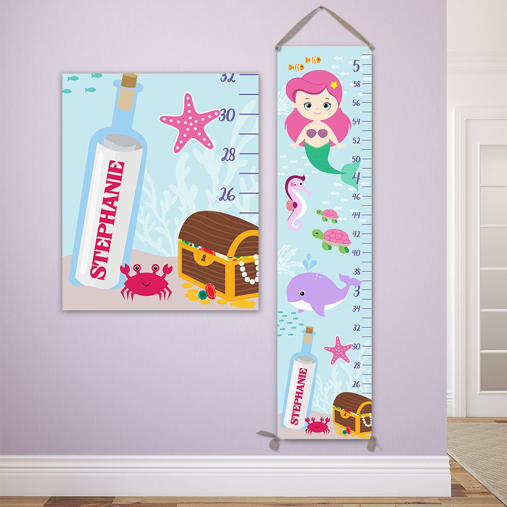 Mermaid growth chart perfect for mermaid nursery mermaid baby mermaid growth chart perfect for mermaid nursery mermaid baby under the sea nursery baby shower gift personalized growth gc4336p geenschuldenfo Choice Image