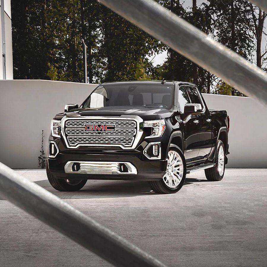 The 2019 Gmc Sierra 1500 Denali Has An Upscale Interior And Provides Ample Towing And Hauling Capability Gmc Sierra Denali Gmc Trucks Gmc Denali Trucks