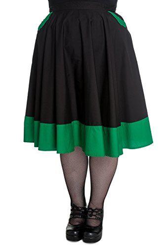 Hell Bunny Plus Size 50's Green Black Vampiress Bat Gothic Punk Rockabilly Skirt (4X) Hell Bunny http://www.amazon.com/dp/B00XAOXB0O/ref=cm_sw_r_pi_dp_NkxHwb02KFFJ0