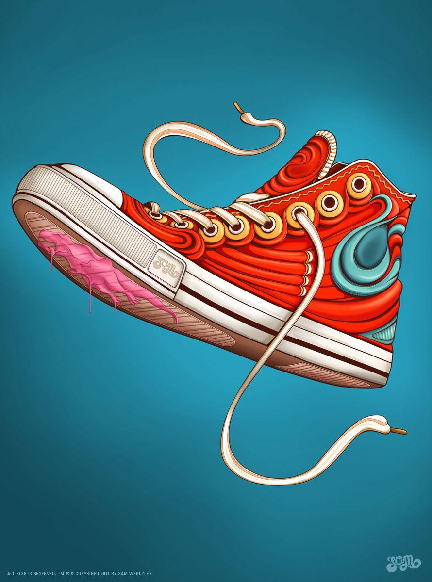 the best attitude 0880a 97929 Sneaker Art Example - Tool  Adobe Illustrator software