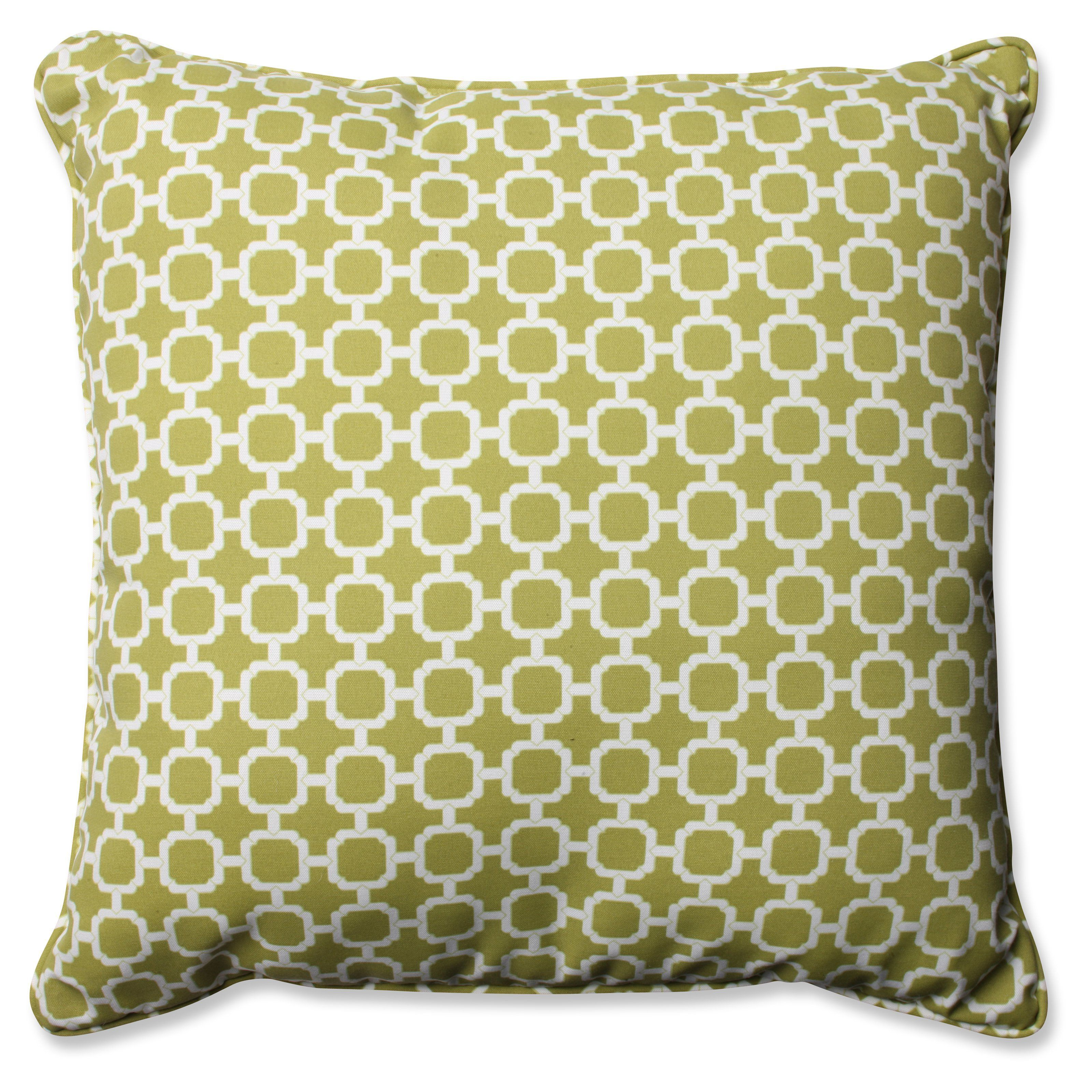 Pillow Perfect Hockley Chain 25 x 25 in. Floor Pillow - Green - 577883