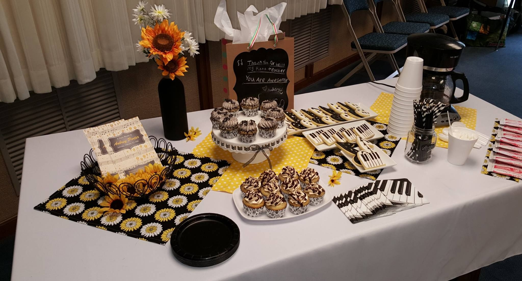 Piano Recital Refreshment Table By Summer S Sweet Treats Piano Recital Piano Refreshments Table