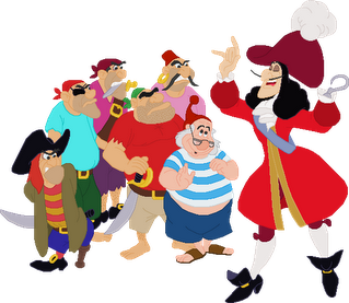Captain Hook Smee And The Pirate Crew