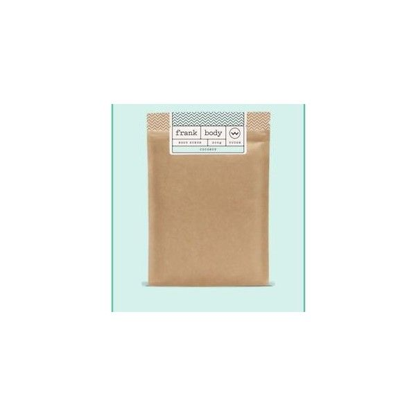 Frank body scrub Coconut ❤ liked on Polyvore featuring beauty products, bath & body products, body cleansers and paul frank