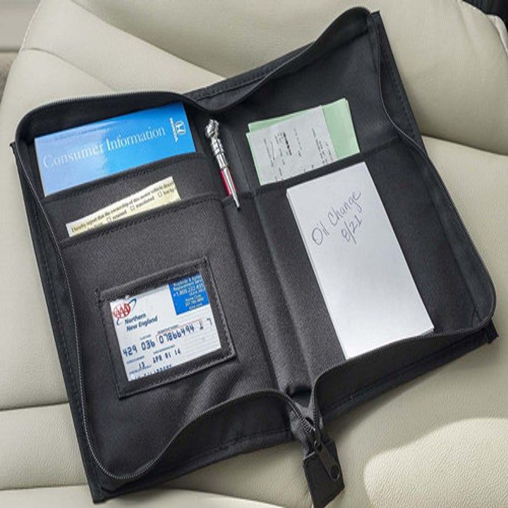 A handy document holder to put your registration ...