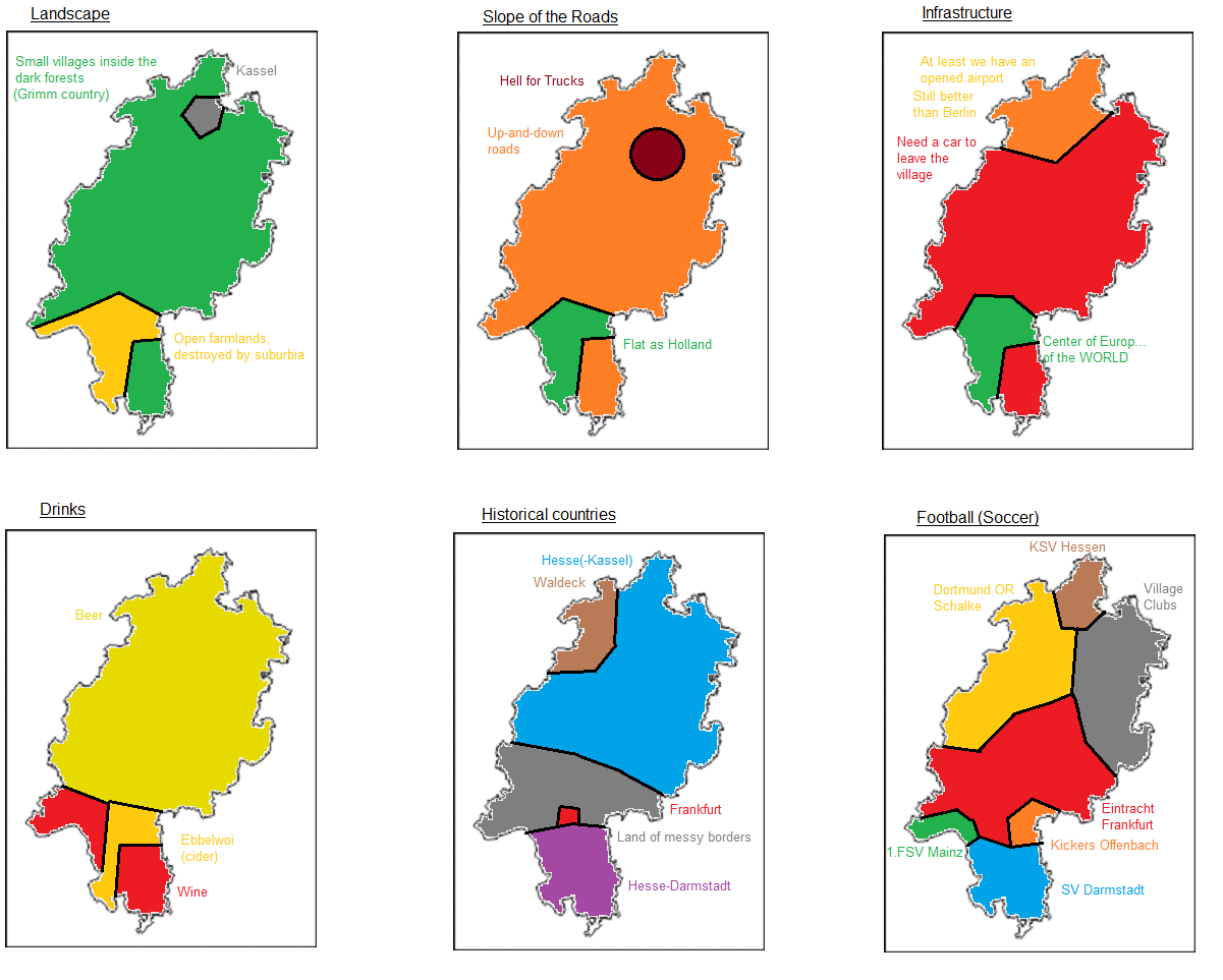 Six ways to divide the German state of Hesse Great Maps Pinterest