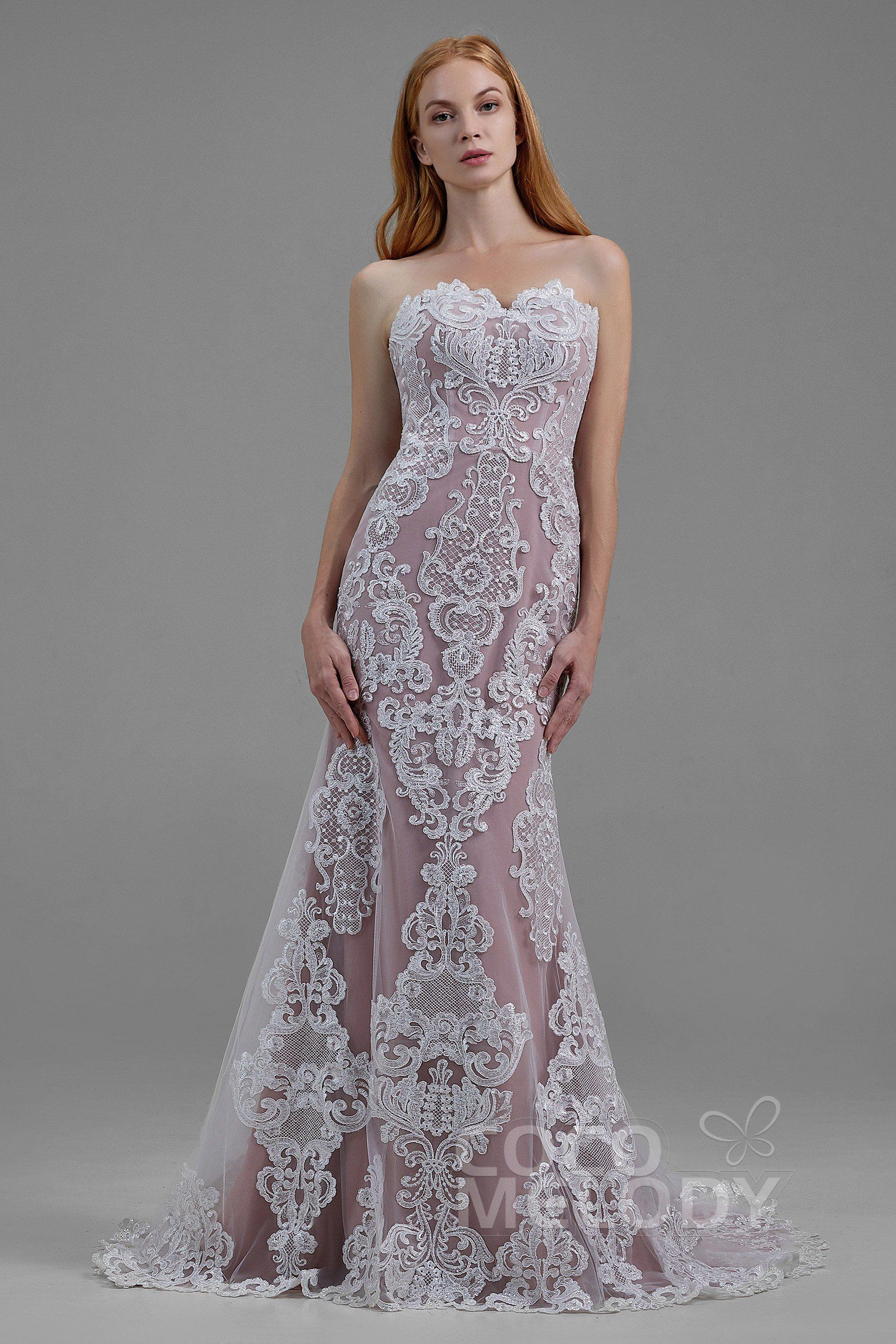 4a39740c1364 Trumpet-Mermaid Court Train Wedding Dress LD5859 | Cocomelody #cocomelody  #weddingdress #mermaidweddingdress #2019newcollection #ld5859