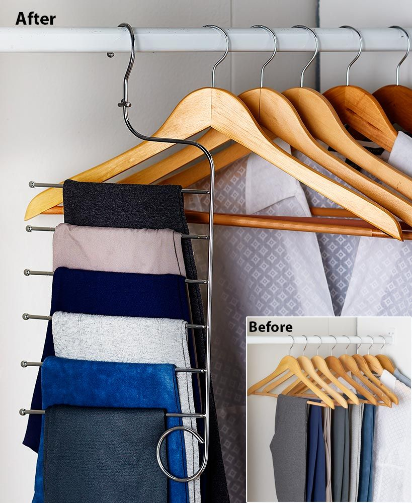 Space Saving Closet Hanger Solutions With Images Space Saving