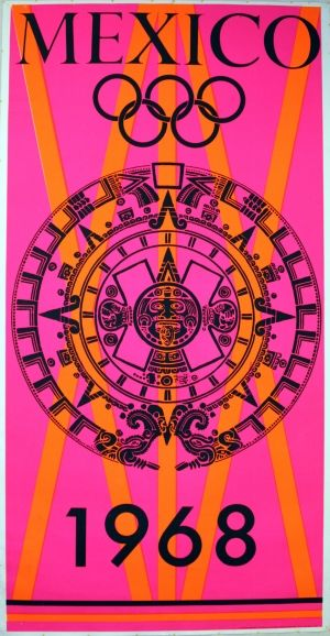 Mexico 1968 Olympics Poster Beatrice Trueblood Estampillas