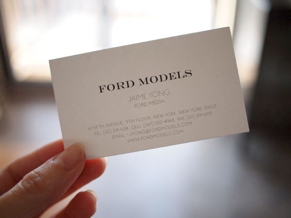 Ford Models Business Card D Branding Model Agency Logo Design