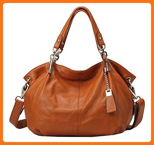 418553eb6f SAIERLONG Ladies Designer Womens Brown Cowhide Genuine Leather Handbags  Shoulder Bags - Crossbody bags ( Amazon Partner-Link)