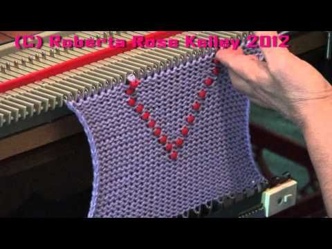 Adding Beads - YouTube | мк шапка | Pinterest | Tejido y Tutoriales