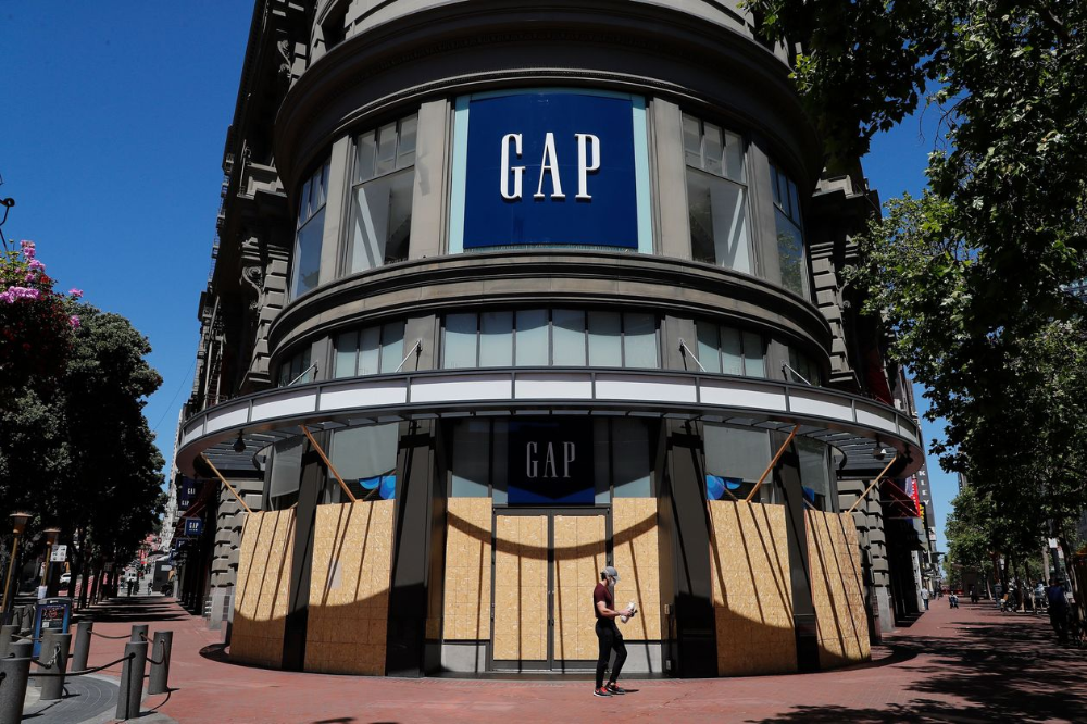 A Gap retailer in San Francisco. The retailer shut its stores in March and thumbnail