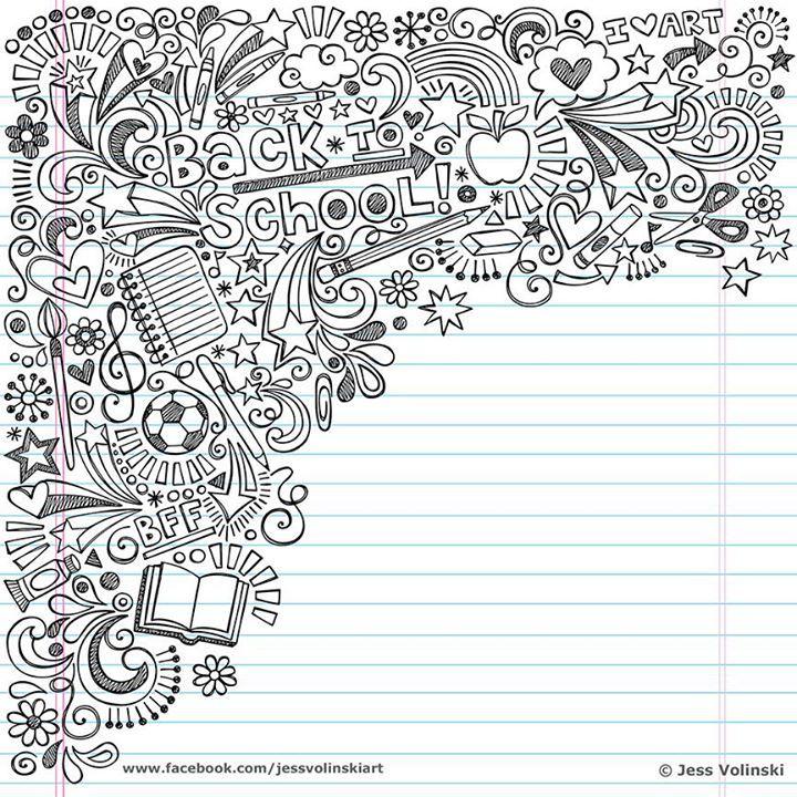 Pin by StephanieJo Van Der Hagen on Jess Volinski Doodles Artwork - line paper background